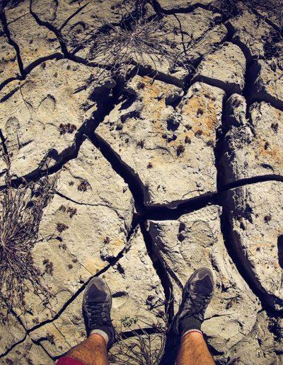 large cracks on rock