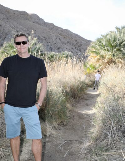 Charlie Webb outdoors on a hiking path