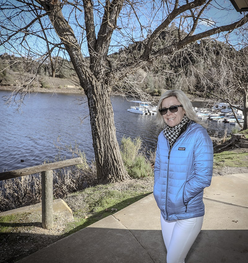 Lisa Wassberg near a lake