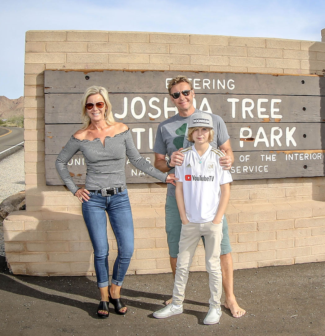 Van der Stahl family at Joshua Tree
