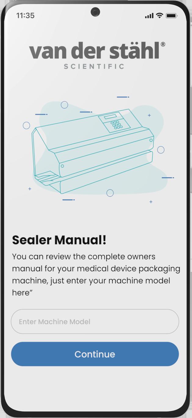 Seal Stats manuals screen