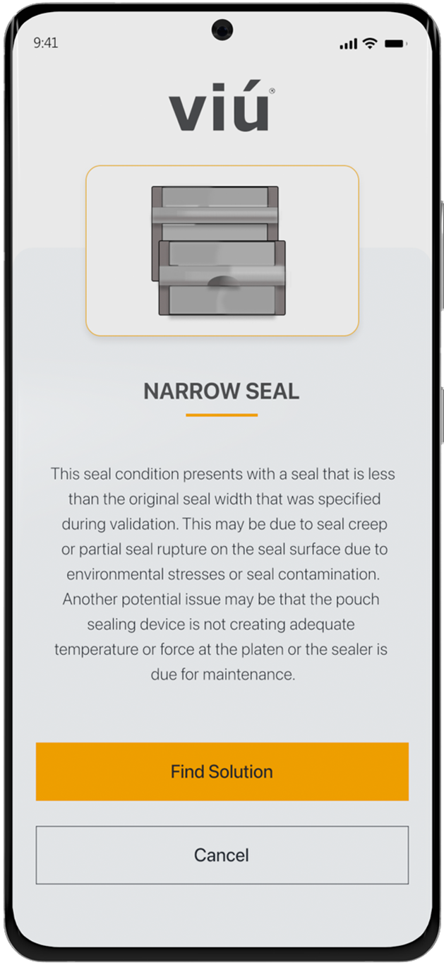 VIU find possible solutions for your seal